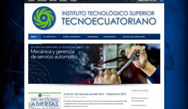 Diseño web para Tecnoecuatoriano